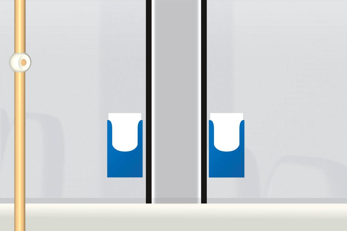 Flyer im Dispenser Engadin Bus