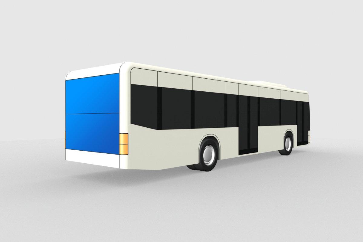Heckbeklebung Engadin Bus