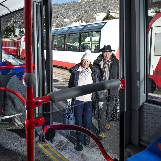 Engadin Bus Umsteigen