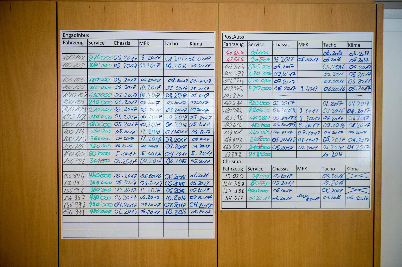 Terminkalender Werkstatt Engadin Bus